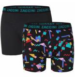 Zaccini heren boxershorts 2 pack model mephis -