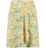 Y.A.S Yasstencil hw skirt s. eggnog/stencil aop