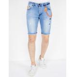Local Fanatic Denim korte jeans slim fit 1048