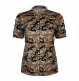 Summum 3s4506-30224 737 top short slv camou print on jersey walnut
