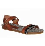 Red Rag Artikelnummer 79336 cognac sandalen met print en gesp sluiting