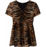 Alix The Label Tijger print jurk bruin