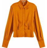 Maison Scotch Shirt with fitted waist in shiny qu orange spice