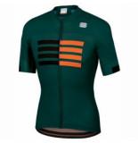 Sportful Fietsshirt men wire jersey moss black orange