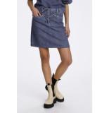 Soaked in Luxury 30405529 slneel denim skirt.