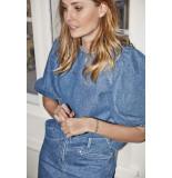 Soaked in Luxury 30405515 slneel denim blouse ss.
