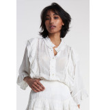 Alix The Label 2106912038 ladies woven embroidery chiffon blouse.