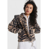 Alix The Label 2106404001 ladies woven tiger denim jacket.