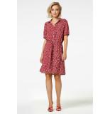 Freebird Suzy botanic vis 02 mini dress short sleeve