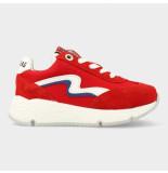 Red Rag Artikelnummer 13059 rode sneakers met rits en vetersluiting