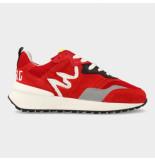 Red Rag Artikelnummer 13109 rode sneakers met vlam belijning