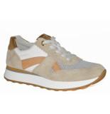 Paul Green Artikelnummer 4918-158 beige sneaker met oranje/bronzen details