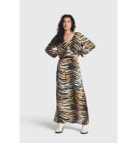 Alix The Label 2106314052 woven tiger viscose maxi dress