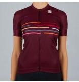 Sportful Fietsshirt women vélodrome short sleeve jersey red wine