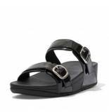 FitFlop Women lulu adj slide patent glitter all black