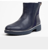 FitFlop Salma lizard-embossed ankle boots leather