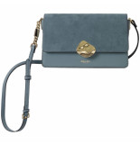 LUELLA GREY Esme molten clasp crossbody handbag dusk blue