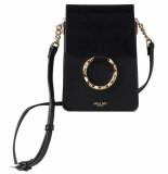 LUELLA GREY Holly portrait phone crossbody handbag black