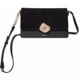 LUELLA GREY Esme molten lock crossbody handbag black