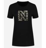 Nikkie T-shirt n6-380 flower logo