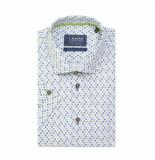 Ledûb Overhemd mini print korte mouwen