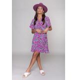 Colourful Rebel 10395 telsi flower dress jurkje pink -