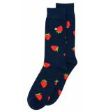 Alfredo Gonzales Sokken strawberries navy/red