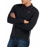 North Sails Picton polo long sleeve black