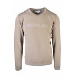 Replay Sweatshirt front print brown