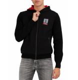 North Sails Gore hooded full zip logo black