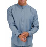 Closed Collarless shirt mid blue
