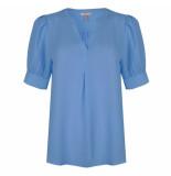 Esqualo Blouse sp21.08011 blue
