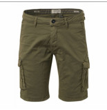No Excess 118190306sn short chino stretch garment dyed 055 olive no-excess