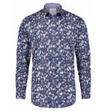 A Fish Named Fred 23.01.018 shirt mermaid overhemd blue multicolour -