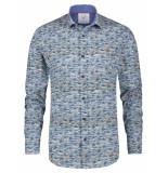 A Fish Named Fred 23.01.003 shirt sardines blue overhemd -