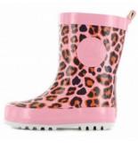 Shoesme Regenlaars rainboot leopard pink