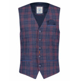 A Fish Named Fred 23.01.144 waistcoat red/blue gilet -