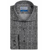 Bos Bright Blue Overhemd met print 7-09/0028