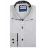 Bos Bright Blue Overhemd met grijze bies 7-10/0004