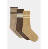 Penn & Ink W21f994 socks 3-pack camel