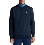 North Sails Organic fleece sweatshirt navy blue