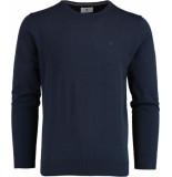Bos Bright Blue Rince r-neck pullover flat kn 21305ri02bo/290 navy