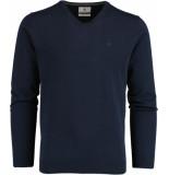 Bos Bright Blue Vince v-neck pullover flat kn 21305vi01bo/290 navy