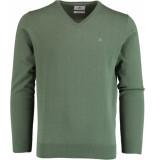 Bos Bright Blue Vince v-neck pullover flat kn 21305vi01bo/345 modern green