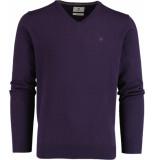 Bos Bright Blue Vince v-neck pullover flat kn 21305vi01bo/713 purple