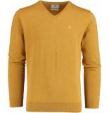 Bos Bright Blue Vince v-neck pullover flat kn 21305vi01bo/860 bronze