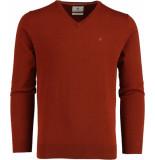 Bos Bright Blue Vince v-neck pullover flat kn 21305vi01bo/861 rust