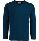 Bos Bright Blue Vince v-neck pullover flat kn 21305vi01bo/263 reborn blue