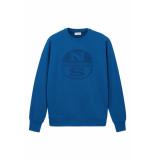North Sails Organic fleece sweatshirt poseidon blue