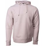 Ma.strum Embossed hoodie logo ecru